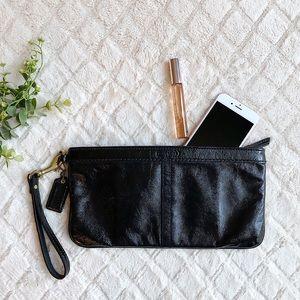 COACH Patent Leather Black Wristlet